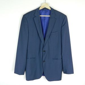 Hugo Boss Blue The James 1 Sport Coat 42L *Flaw